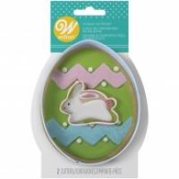 egg with mini bunny cookie cutter