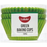 gobake green cupcake cases