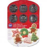 Holiday Treat 12Cavity Cookie Pan Tin
