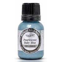 Metallic Pearlescent Baby Blue Food Paint
