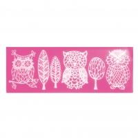 Owls & Trees Silicone Lace Mat