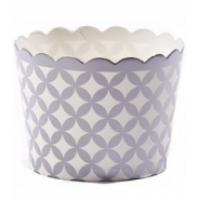 silver diamond baking cups