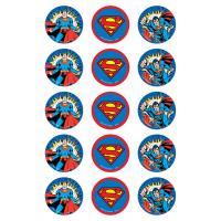 Edible Image-Superman Cupcake icing Image