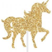 unicorn glitter paper cake topper