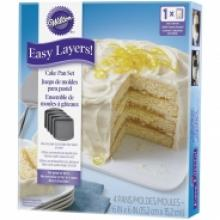 4pc easy layers square pan