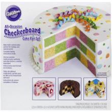 Checkerboard Cake Pan Tin Set